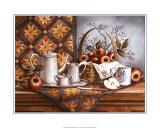 Teegeschirr aus Zinn und Äpfel Kunst von T. C. Chiu