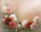 Peonías en flor Pósters por T. C. Chiu