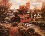 Die alte rote Mühle Kunstdrucke von T. C. Chiu