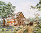 Mike's Garage Prints by Kay Lamb Shannon