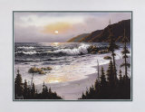 Beach with Pine Trees Prints by  Prellop