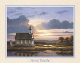 Peaceful Wood Church Prints by T. C. Chiu