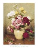 Patrimoine - Nature morte aux roses Affiches par Gustav Bienvetu