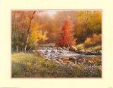 Serene Lake Art by T. C. Chiu
