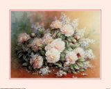 Peonies Bouquet Prints by T. C. Chiu