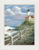Lighthouse with Fence Prints by T. C. Chiu