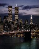 World Trade Centre et pont de Brooklyn Affiches