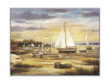 Sailboats at the Shore Prints by T. C. Chiu