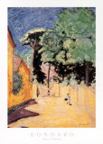 Lane at Vernonnet Planscher av Pierre Bonnard