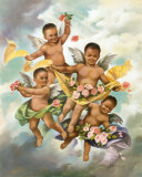Black Cherubs Prints by  Lopez
