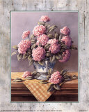 Pink Hydrangeas Prints by T. C. Chiu