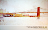 Brooklyn Bridge Print by David Lingwood