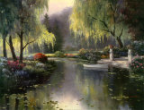 Willow Park Lake Prints by T. C. Chiu