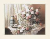 Nelken mit Kerze Kunstdrucke von T. C. Chiu