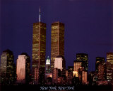 Ciel de New York et World Trade Center Affiche
