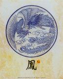 Phoenix Motif Prints by T. C. Chiu