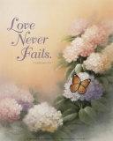 Love Never Fails Poster von T. C. Chiu