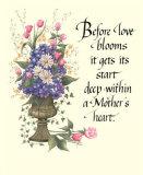 Urna de hortensias: el corazón de una madre Pósters por  Tribou