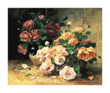 Roses Art by Eugene Henri Cauchois