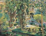 A Courtyard In Grenada Poster von Wilfred DeGlehn
