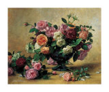 Naturaleza muerta con rosas combinadas Pósters por Albert Williams