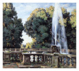 The Fountain, Villa Torlonia Posters by Wilfred Gabriel de Glehn