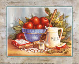 Cookbook and Apples Prints by Peggy Thatch Sibley