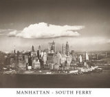 Manhattan South Ferry Poster by Theodore Donaldson