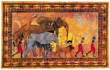 African Procession Print by Gregory Alexander