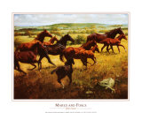 Mares and Foals Prints by John Leone