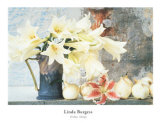 Longiflorum Lilies in a Jug Prints by Linda Burgess