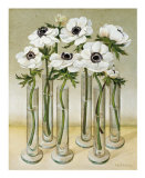 White Anemones Posters by Galley 