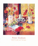 Still Life Of Tulips Prints by Peter Graham