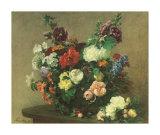 Bouquet de Fleurs Diverses Art by Henri Fantin-Latour