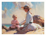 Summer On The Beach Poster by John Richard Townsend
