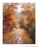 Autumn Trail Print by Tan Chun