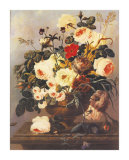 Roses, Carnations, Convolvuli Art by Johann Dreschler