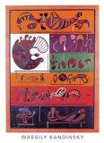 Siete, 1943 Pósters por Wassily Kandinsky
