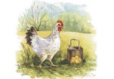 Hen with Chicks Prints by Peggy Thatch Sibley
