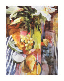Still Life with Fruit and Lilie Affiche par Shirley Trevena