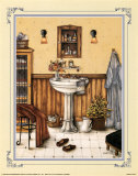 His Bathroom Prints by Kay Lamb Shannon