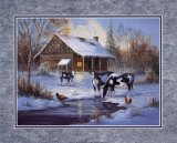 Farm im Winter Kunstdrucke von M. Caroselli