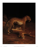 Two Leopards Playing in the Exeter Change Menagerie, c.1808 Prints by Jacques-Laurent Agasse