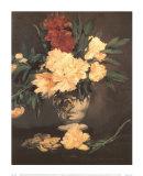 Vase de Piviones sur Piedouche Posters by Édouard Manet