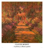 Une allée du jardin, Giverny Affiches par Claude Monet