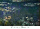 Nenúfares: Reflejos verdes I Láminas por Claude Monet