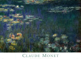Waterlilies: Green Reflections I Print by Claude Monet