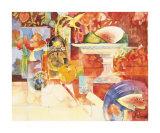 Nature morte à la pastèque Posters par Shirley Trevena