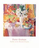 Tble With Mixed Fruits Print by Peter Graham