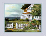 White Fence in Cape Cod Poster by Steve Zazenski